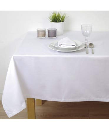 10XDIEZ Mantel Saten Blanco hostelería - Manteleria - 150cm x 150cm