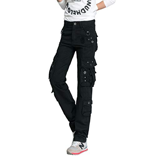 Cool&D Damen Cargo Hose Cargohose Casual Freizeit Sports Hose Arbeitshose mit Multi Pockets