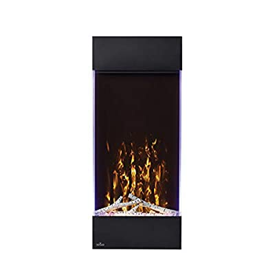 Napoleon Allure Series Vertical Wall Mount/Built-in Electric Fireplace (NEFVC38H), 16x38-Inch