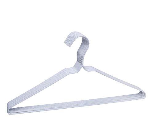 TODO HOGAR Perchas de Metal de 40cm, Super Pack de 260 Und - Ideal para Camisas Pantalones, Vestidos y Tintorerías. Forradas en Plastico