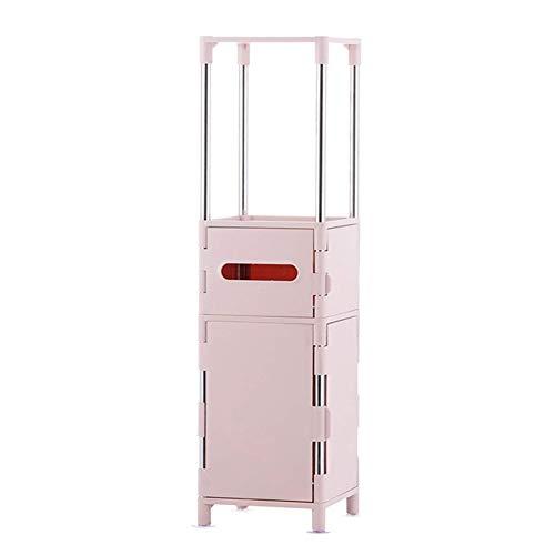 YLLHK Toilettenschrank, Badezimmerschrank, Hochschrank, Seitenschrank, Vielseitig Einsetzbares Freistehend 75 x 20 x 20 cm (Pink, Blau,...