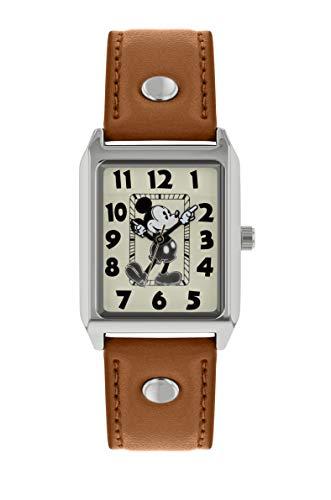 Mickey Mouse Reloj Analógico para Mujer de Cuarzo con Correa en Cuero MK1453