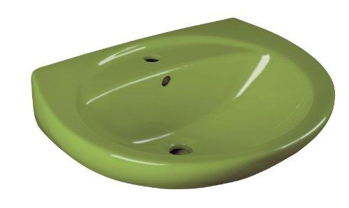 Cornat Waschtisch EMOTION moosgrün / Waschbecken / Handwaschbecken / Badkeramik / Badezimmer / WTBD816015