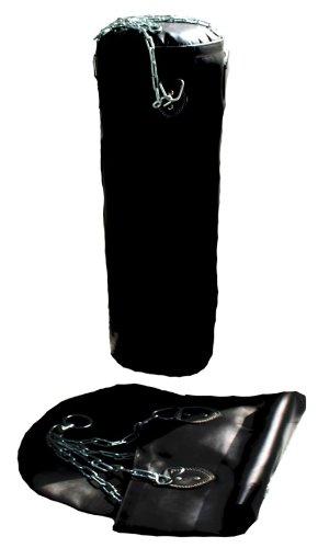 Lisaro Boxsack Sandsack ungefüllt 120 X 35cm für Boxen, inkl. Stahlkette Halterung/Profi Boxsack Sandsack.(ungefüllt 120 X 35)