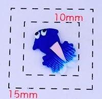 金魚9×6ミリ《ネイルアート・デコ電用プラパーツ》ブルー4個
