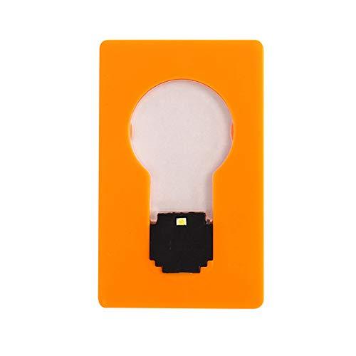 Shuliang 5 piezas mini cartera de bolsillo tamaño tarjeta de crédito luz LED, lindas bombillas LED portátiles de luz de noche, lámpara de bolsillo LED plegable (5,3 x 8,5 cm)