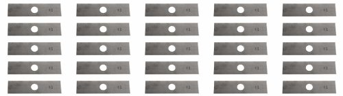 "USA Mower Blades 25 8""x2"" Unpainted Edger Blades for Echo 720237001, RYOBI 613223, Husqvarna:578 39 28-02, 601 00 24-54"