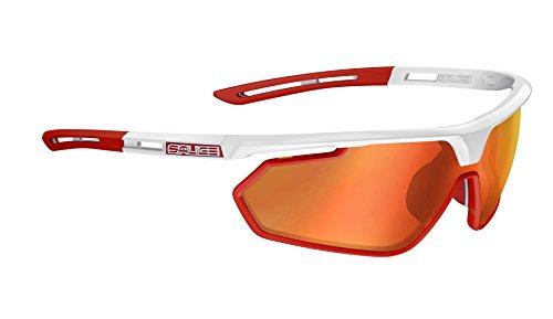 Salice 018rw zonnebril unisex volwassenen, wit/rood