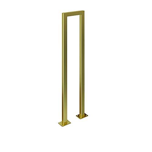 """Pasamanos de seguridad antideslizantes de seguridad tipo """"U"""" de viento industrial para escaleras, pasamanos de escalera creativo dorado, adecuado para barandillas de pasillos interiores y exteriores"""