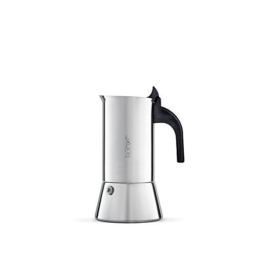 Bialetti 0001682 Venus Espressokocher für induktion, Stahl, 4 Cups, Silber