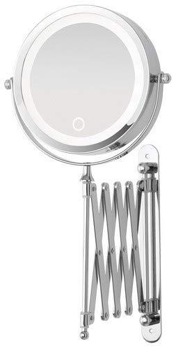 Feridras 178034 Specchio Estensibile con LED, ABS, 7x20x20 cm