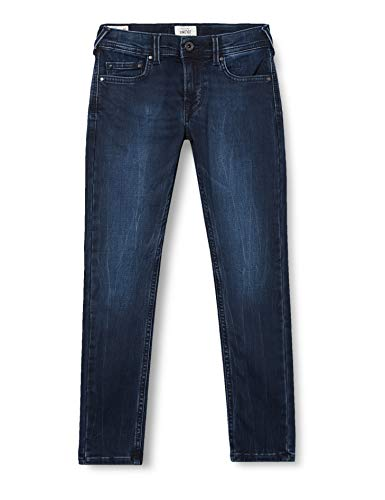 Pepe Jeans Jungen Finly Jeans, Blau Denim DJ7, 16 Jahre