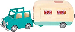 Li'l Woodzeez Animal Figurine Playset & Accessories - Happy Camper, Blue - 39Piece