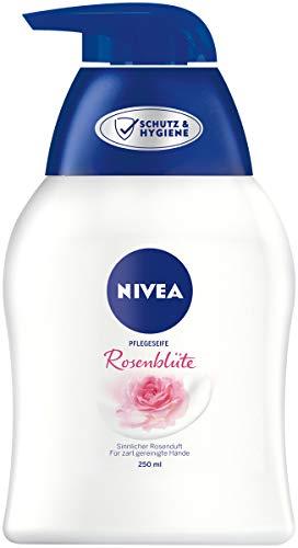 NIVEA Pflegeseife Rosenblüte (250ml), pflegende Flüssigseife für spürbar weiche, geschmeidige Hände, pH-hautfreundliche Handseife mit Rosenblüten-Duft
