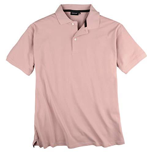 Redfield Basic Stretch-Poloshirt Altrosa Übergröße, XL Größe:8XL