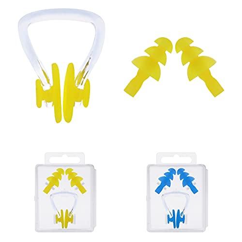 Tapones Oidos Ruido : Loop Earplugs : Reutilizable e impermeable Tapones Oidos Adecuado para dormir , conciertos de natación Tapones Para Dormir(2 pares Con la nariz tapada)