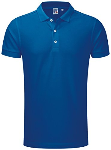 Russell Hommes Stretch Polo - 10 Couleurs/SML - 3XL - White - 3XL