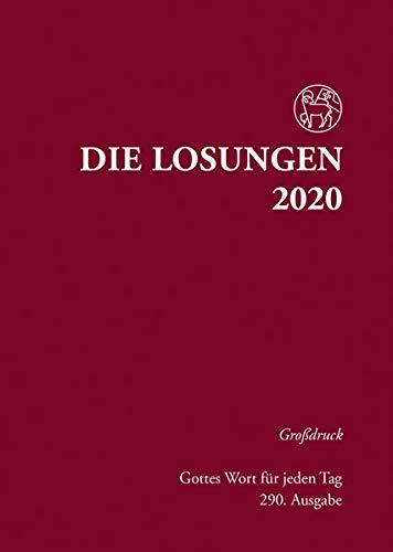 Die Losungen 2020 Deutschland / Die Losungen 2020: Grossdruck Hardcover