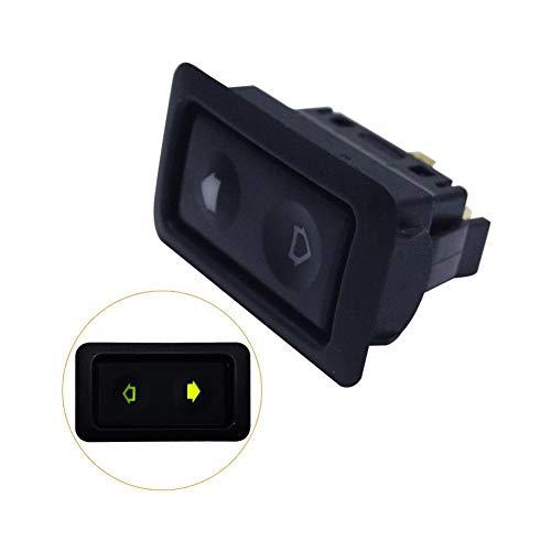 AHHMT 10-30A Elektrischer Fensterheber-Schalterknopf für alle Autos mit grüner LED-Licht-Auto-Fensterknopfschalter Auto-Autozubehör