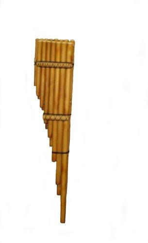 Alpacaandmore Flauta de pan profesional peruana Toyo Bass 90 cm de bambú