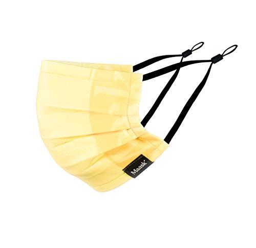 MAASK Shield HYGIENISCHE Maske, Vanilla, Adult