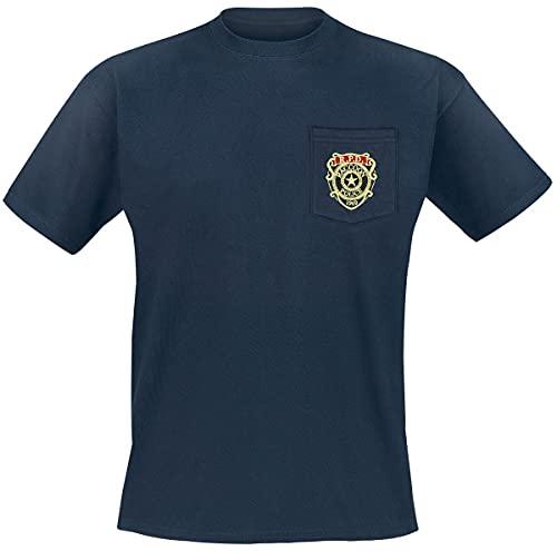 Resident Evil R.P.D - Camiseta bolsillo,...