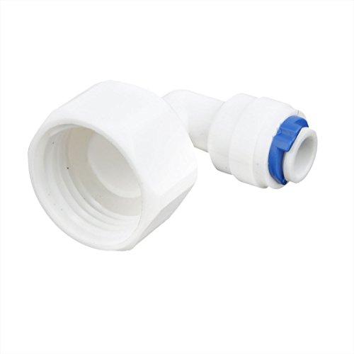 Lowest Price! White Plastic 1/2PT Female Threaded 90 Degree Elbow Fitting Coupler