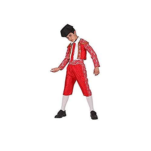 Cisne 2013, S.L. Disfraz de 5 Piezas para Carnaval Infantil niño de Torero Color Rojo Talla 3/4 años de niño y niña. Cosplay niño Carnaval.