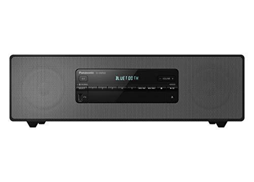 Panasonic SC-DM502E-K Sistema Micro Hi-Fi, 40W, Radio Fm, DAB/DAB+, Lettore CD, Porta USB, Bluetooth, Aux, Riproduzione MP3, Alloggiamento in Legno e Copertura in Rame, Design Elegante, Nero