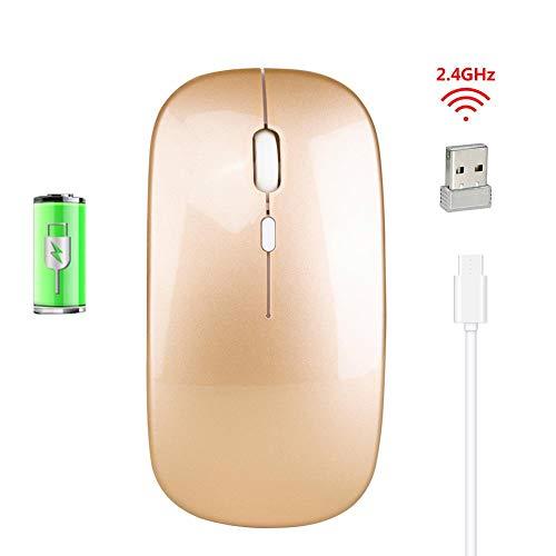 Draadloze muis, draadloos, oplaadbaar via USB, laptop-muis, 2,4 G, stil, 500 mAh, voor thuis en op kantoor, gemakkelijk te transporteren.