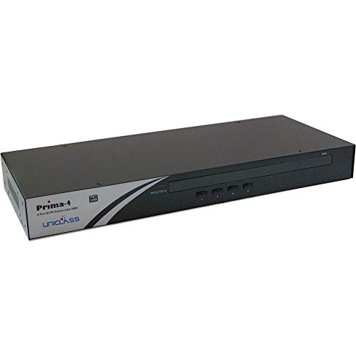 BeMatik - Conmutador KVM Rack 1U Uniclass Prima de PS2 USB VGA...