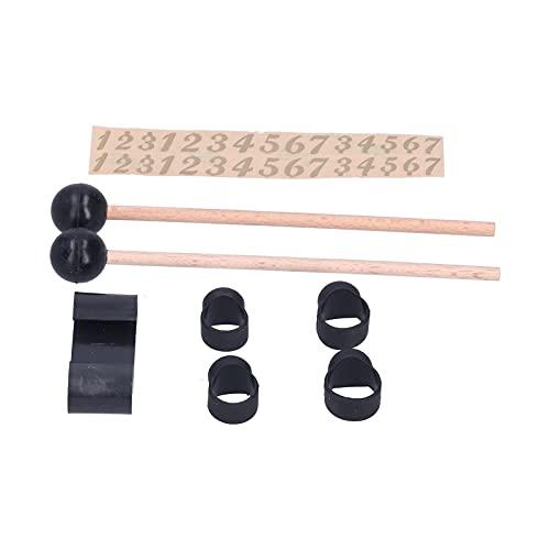 Palillo de tambor de cabeza redonda, kit de baquetas que se adapta a tus dedos Material muy suave para tocar el tambor para la práctica de instrumentos