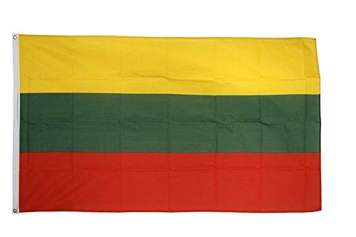 Flaggenfritze Fahne/Flagge Litauen + gratis Sticker