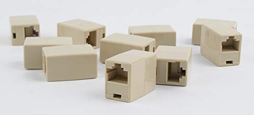 Gembird TA-350/10 8P8C RJ-45 8P8C RJ-45 Beige Adaptador de Cable - Adaptador para Cable (8P8C RJ-45, 8P8C RJ-45, Hembra/Hembra, Beige)