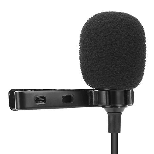 CjnJX-Vases Micrófono Lavalier Capacitancia de Enchufe de 3,5 mm Micrófono de Cable Lavalier Mic 8M para Grabar Youtub & e/Entrevista/Videoconferencia/Podcast/Dictado de Voz/iPhon & e/ASMR
