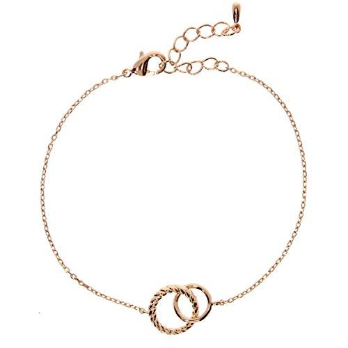 Zoeca - Armband 925 Silber - Nickelfrei - Damen Schmuck - Kette Ringe (Rosé)