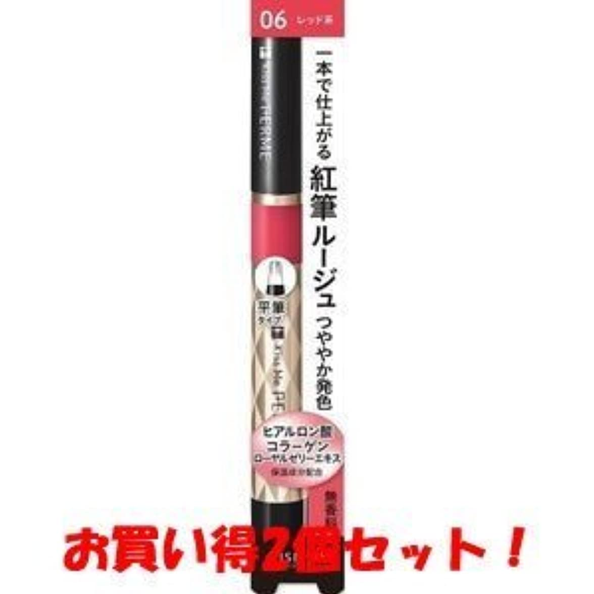 遺棄された州控えめな(伊勢半)キスミー フェルム 紅筆リキッドルージュ 06 明るいレッド 1.9g(お買い得2個セット)