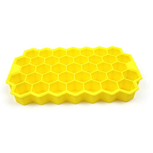 1Pc Honeycomb 37 Cubes Maker Mold for Ice Cream Party Cold Drink Whiskey Cocktail Popsicle Molds-0_Yellow