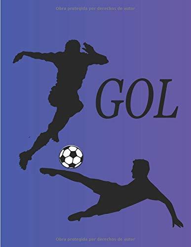 Gol: Cuaderno de entrenador de 100 páginas con dibujo de campo de fútbol + Bloc de notas - Diario de cuaderno - Regalos de entrenador de fútbol - Creación de ejercicios y exploración