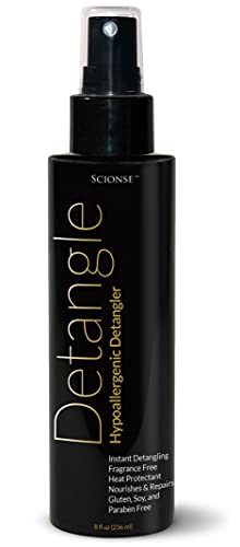 Scionse Hypoallergenic Detangle, Fragrance Free, unscented, heat protectant