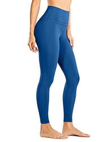 CRZ YOGA Femme Legging de Sport Pantalons Yoga Taille Haute en Tissu Léger avec Poche-63cm océan Bleu 40