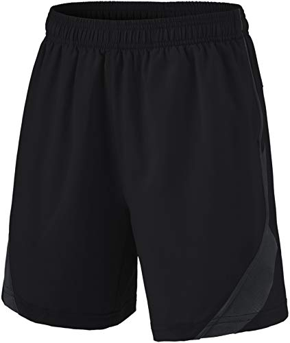 TSLA Boy's Athletic Shorts, Quick Dry Pull On Basketball Running Shorts, Active Sports Workout Gym Shorts, Stretch Pace 1pack(kbh76) - Black, Medium