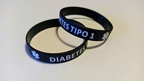 """Bracciale in silicone inciso """"Diabete tipo 1"""""""