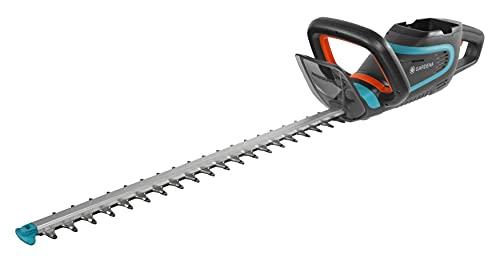 Gardena Akku-Heckenschere PowerCut Li-40/60: Akku-Heckenschneider mit 60 cm Messerlänge, ergonomischer Griff, Messer-Anschlagschutz, intuitives Tastenfeld, Lieferung ohne Akku und Ladegerät (9860-55)