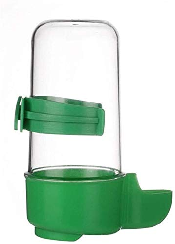 YYhkeby Alimentador automático dispensador de Agua for Mascotas Alimentos for Mascotas Jaula del Loro Jaula de pájaro Suministros Verde Jialele (Color : Green)