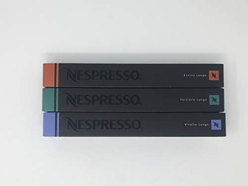 Nespresso - Varietät Pack - 30 Kapseln - Fortissio Lungo - Vivalto Lungo - Envivo Lungo