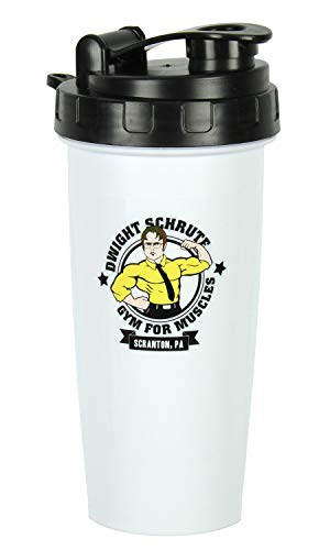 The Office Dwight Schrute Gym For Muscles 20oz Protein Shaker Bottle