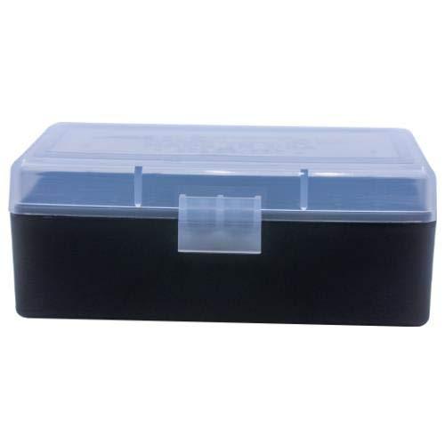 BERRY S Plastic Ammo Box, Clear Black 50 Round 38 357 (1)