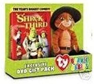 Amazon Com Shrek The Third Dvd Gift Pack With Puss N Boots Beanie Baby Toys Games