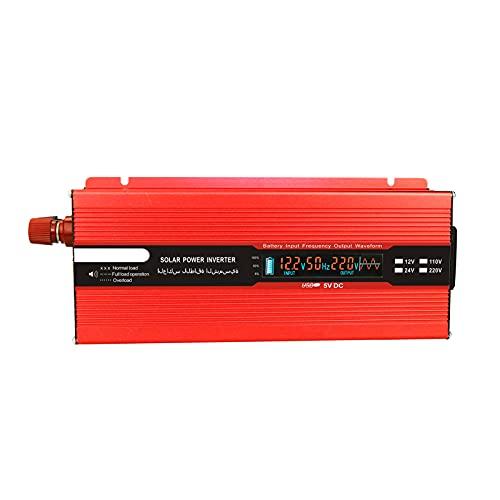Moniel Convertidor de voltaje 2000W 4000W 12V 240V Inversor Inversor de corriente USB con 1 enchufe y pantalla LCD